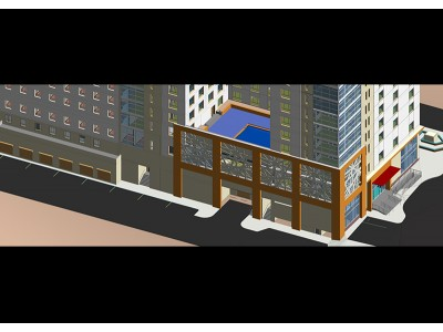 Case Study :3D DETAILED FACADE MODELLING FOR HOTEL CHAIN